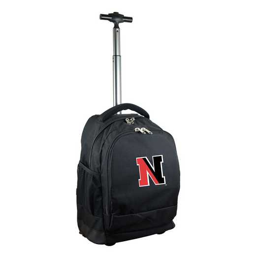 CLNEL780-BK: NCAA Northeastern Huskies Wheeled Premium Backpack